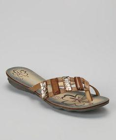 3173ae9133a1aa Beige Charm Strap Sandal by BÉTSY  zulilyfinds Strap Sandals