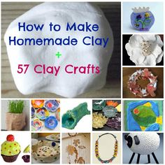 Make homemade modeling clay and then use it with these 57 awesome clay crafts!