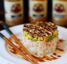 Flavor God Crab Salad Sushi Stack