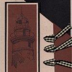 Lighthouse Brown Black Gingham