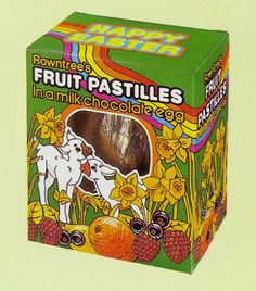 Rowntrees Fruit Pastilles easter egg from 1987 1980s Childhood, My Childhood Memories, Rowntrees Fruit Pastilles, Retro Sweets, Retro Food, Selection Boxes, Cadbury Chocolate, Retro Recipes, Vintage Easter