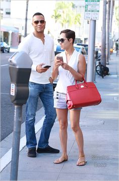 Trai Byers and wife Grace Gealey
