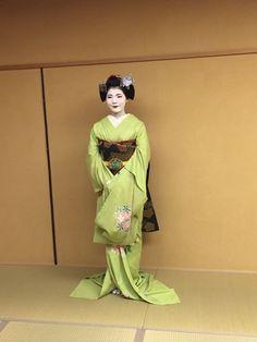 Maiko Fukucho, August 2015 お茶屋ブログ ~宮川町のお茶屋「しげ森」舞妓歳事記~:8月のお衣装