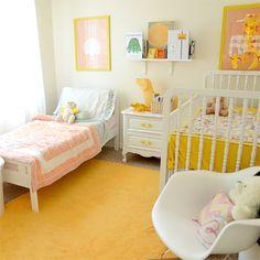 Super adorable shared kids room