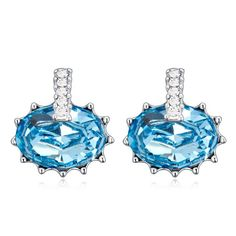 Hot High Quality Stud Earrings Swarovski Elements Crystal for Swarovski Pendant Earring Five Color for Women Gift Jewelry Making
