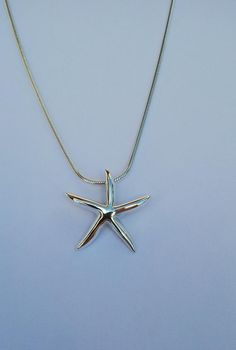 Starfish pendant handmade in sterling silver. For all of those who love the sea and the beach! Sea Foam, Starfish, Arrow Necklace, My Etsy Shop, Jewels, Sterling Silver, Pendant, Check, Handmade