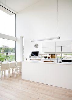 sleek, super clean white kitchen