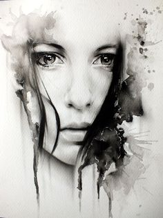 Woman face with sad eyes art. woman face with sad eyes art watercolor portraits, watercolor paintings Art And Illustration, Watercolor Portraits, Watercolor Paintings, Tattoo Watercolor, Ink Paintings, Watercolor Eyes, Watercolor Dreamcatcher, Amazing Paintings, Amazing Artwork