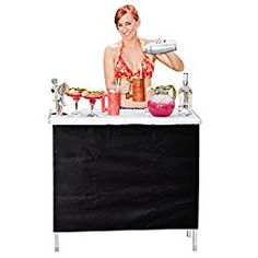 GoPong Portable High Top Party Bar,  Includes 3 Front Skirts and Carrying Case