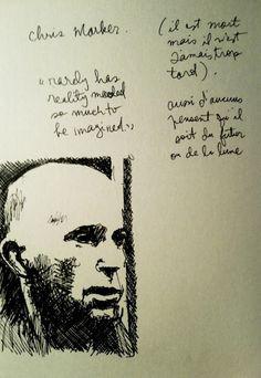 Lapinsec - Chris Marker - encre - 2012