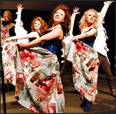 The Friend de Coup, of little Mitchell, SD,  the retro fashion fabric was used for the skirts. They look super!