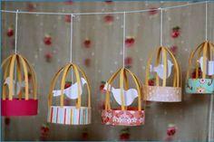 Manualidades y decoracion: Como Hacer una Jaula de Pajaritos para Decorar Cum...