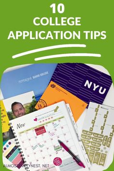 10 College Application tips: get tips for college application organization for the high school senior year and before. College Application template and planner #almostemptynest #collegeprep Senior Year Of High School, High School Seniors, High School Students, College Students, College Search, College Application, Online College, Parenting Teens, Template