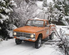 have any of you ever built or had one of these they are ford curiors that have been converted to they were made by washinton atv in kelso Small Trucks, Mini Trucks, Pickup Trucks, Hot Rod Trucks, Cool Trucks, 4x4 Ford Ranger, Ford Courier, Old Fords, Retro Cars