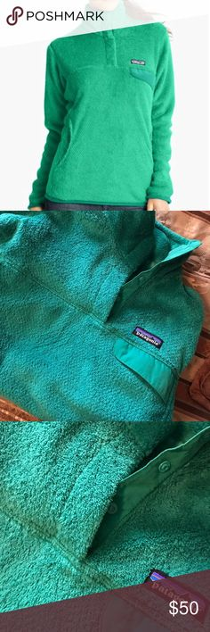 Impact Green Retool Pullover Worn 5x at most. In flawless condition. Patagonia Tops