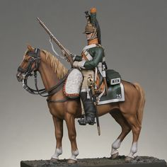 Mounted dragoon 25th regiment 1809, France.