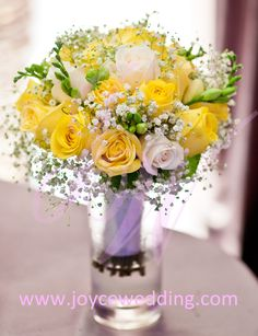 I feel like this flower arrangement is very vintage. Its a bright enough yellow without making it look to modern.