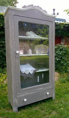 Zabytkowa, stara witryna ręcznie malowana biblioteczka Polski Len | Bielany | Gumtree | 142631233