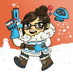 Overwatch Mei Cartoon Character Illustration - Search similar styles, portfolios and artists on the illustration agent website. Illustration Story, Character Illustration, Overwatch Mei, Graffiti Tagging, Projection Mapping, Cartoon Characters, Fictional Characters, 3d Animation, Video