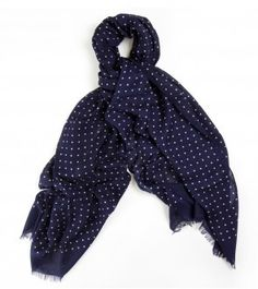 Lightweight Printed Modal/Cashmere Spot Scarf