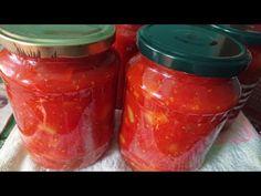 Amestec de ardei cu roșii, pus în borcane pentru iarnă. - YouTube