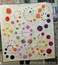This customer quilt from Melinda Quilts Etc is so sweet! Made to be a gift for a young girl, it was pieced by Hildegard and quilted by Melinda Fulkersonat Melinda Quilts Etc