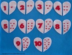 Counting Valentines Felt Board Flannel Board by GlitterfulStories, $7.00