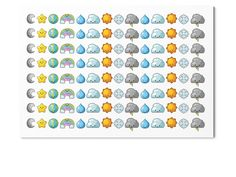 122 kawaii cuteness overload weather stickers