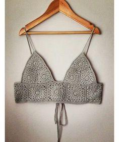 Crochet Bra, Crochet Crop Top, Crochet Blouse, Crochet Clothes, Summer Crop Tops, Hand Knitting, Bikini Tops, Crochet Patterns, Fashion