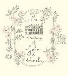 Wedding stationery. Katt Frank design.
