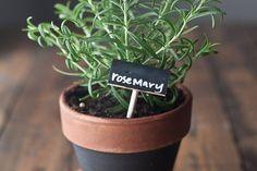 Chalkboard Dipped Wine Cork Plant Markers Set of by nataliepozniak, $10.00