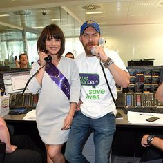 Charlotte Riley and Tom Hardy participate in the Bowel Cancer UK | Charity DayEngland - September 11, 2015.