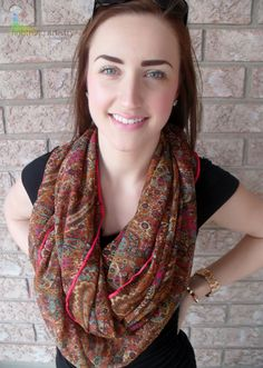 Spring 2013    https://www.etsy.com/listing/127964394/infinity-scarf-paisley-taupe-mint-green?ref=v1_other_1