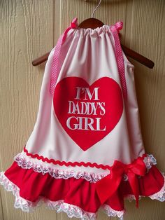 I'M Daddy's Girl Pink Pillowcase Dress, via Etsy.