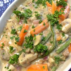 Vegetable stew with mushrooms and green beans - recovery stew 5 - Vegetarian Recepies, Vegetable Recipes, Veggie Food, Clean Eating Recipes, Cooking Recipes, Healthy Recipes, Vegetable Stew, Orange Recipes, Vegan Foods