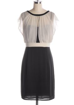 Black and white pleated bust dress by Pink Martini. Relaxed fit. Back zipper. Online exclusive. NOTE: Fits slightly large--see measurements. 100% polyester Not stretchy Lined Hand wash cold; hang dry Indie, Retro, Party, Vintage, Plus Size, Convertible, Cocktail Dresses in Canada NEW: The Right Mix Dress -