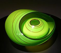 Vienna Green Basket Set, Chihuly of course.  Man I love glass!