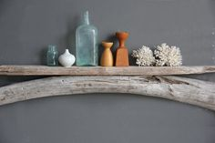 Natural Driftwood Shelf  Perfect Mantle // Size by OceanSwept, $145.00