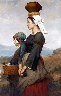 Emile Auguste Hublin - Le Chemin du Marché, Finistère (1878)