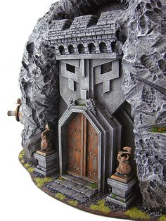 knocked this out in a couple of weekends and it was a lot of fun to make. Below are the WIP photos and the final shots. This was for an Ar. Warhammer Dwarfs, Warhammer 40k, Warhammer Terrain, Warhammer Fantasy, 40k Terrain, Game Terrain, Fantasy Dwarf, Medieval Fantasy, Dark Fantasy