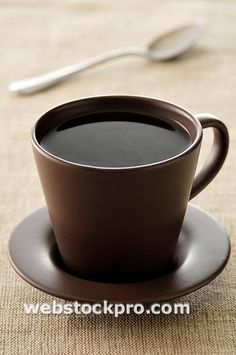 brown in brown...love the cup & saucer, love black coffee.