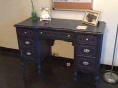 Refurbished Antique Vanity made into Desk by EODinspired on Etsy, $200.00