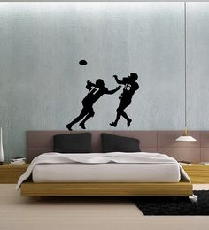 Boys bedrooms wall decal sticker #football