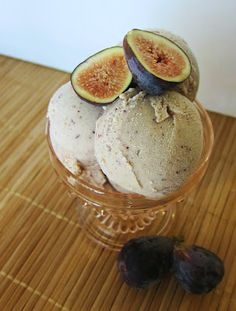 raw fig almond ice cream, from: Fragrant Vanilla Cake