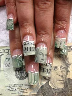 If i could have money on my nailsi would have 100 bill too this is a waste of money that ratchet people have ratchet nails prinsesfo Images
