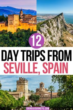 Here are the best day trips from Seville, Spain, featuring destinations like Granada, Córdoba, and Cádiz. You won't want to miss these day trips around southern Spain (Andalusia), all within a few hours of Seville. | seville day trips | places near seville spain European Travel Tips, European Destination, Travel Europe, Travel Usa, Portugal Travel, Spain And Portugal, Malta, Monaco, Spain Road Trip