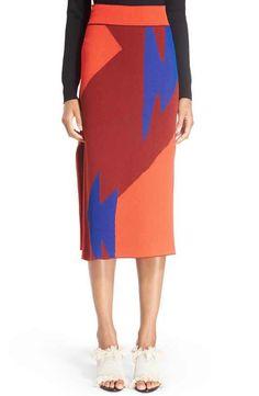 Proenza Schouler Broken Triangle Jacquard Knit Skirt