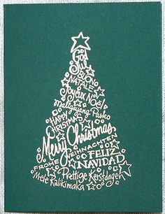 Árbol de Navidad original: Hecho con palabras  Diseño Diane Nassy