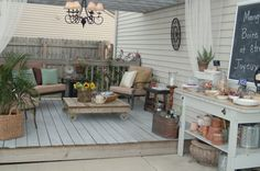 Deck for outdoor living space