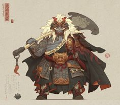 Arun Nain's submission on Feudal Japan: The Shogunate - Game Character Art (real-time) Fantasy Character Design, Character Design Inspiration, Character Concept, Character Art, Concept Art, Character Types, Arte Dark Souls, Samurai Artwork, Monster Art